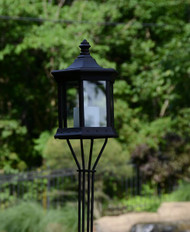 Solar Lantern Sconce Clear Glass image 1