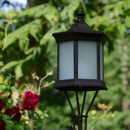 Solar Lantern Sconce Frosted Glass image 1