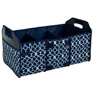 Collapsible Trunk Organizer - Trellis Blue image 1