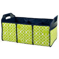 Collapsible Trunk Organizer - Trellis Green image 1