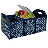 Trunk Organizer and Cooler Set - Trellis Blue image 1