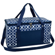 Folding 72 Can Cooler - Trellis Blue image 1