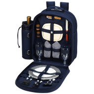 Two Person Picnic Backpack - Navy image 1