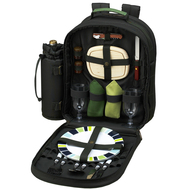 Two Person Picnic Backpack - Forest Green image 1