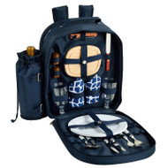 Two Person Picnic Backpack - Trellis Blue image 1