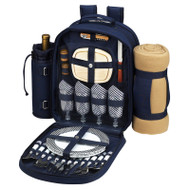Four Person Backpack with Blanket - Navy image 1