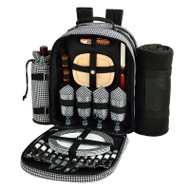 Four Person Backpack with Blanket - Houndstooth image 1
