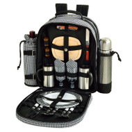 Two Person Coffee Backpack - Houndstooth image 1