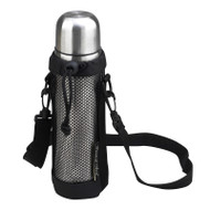 Vacumm Flask & carrier - Black image 1