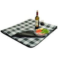 Picnic Blanket with water resistant backing - Charcoal Plaid image 1
