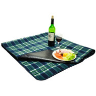 Picnic Blanket with water resistant backing - Green Plaid image 1