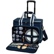 Ultimate Picnic Cooler for Four on Wheels - Navy image 1