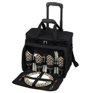Deluxe Picnic Cooler for Four on Wheels - London image 1