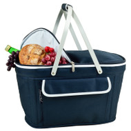 Collapsible Insulated Basket Cooler - Navy image 1