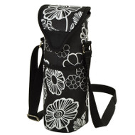 Single Bottle Cooler Tote - Night Bloom image 1