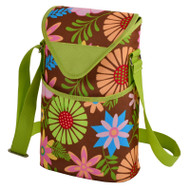 Two Bottle Cooler Tote - Floral image 1