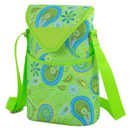 Two Bottle Cooler Tote - Paisley Green image 1