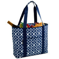Extra Large Insulated Cooler Tote - Trellis Blue image 1