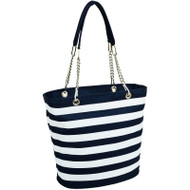 Fashion Cooler Tote - Blue Stripe image 1