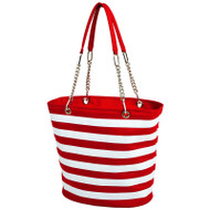 Fashion Cooler Tote - Red Stripe image 1