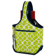 Two Bottle Carrier - Trellis Green image 1