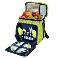 Equipped Picnic Cooler for Two - Trellis Green image 1