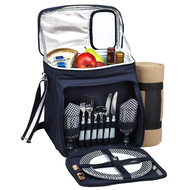 Picnic Cooler for Two with Blanket - Navy image 1