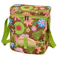 Wine & Cheese Cooler Tote - Floral image 1