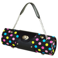 Wine Carrier & Purse - Black Julia Dot image 1
