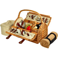 Sussex Picnic Basket for Two with Blanket - Santa Cruz image 1