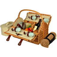 Yorkshire Picnic Basket for Four with Blanket - Gazebo image 1