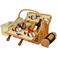 Yorkshire Picnic Basket for Four with Blanket - Santa Cruz image 1