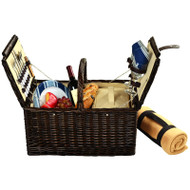 Surrey Picnic Basket for Two with Blanket - Aegean image 1