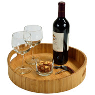 Curve Bamboo Cocktail Tray - Bamboo image 1
