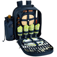 Four Person Picnic Backpack - Trellis Blue image 1