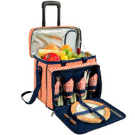 Deluxe Picnic Cooler for Four - Diamond Orange image 1
