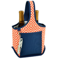 Two Bottle Carrier - Diamond Orange image 1
