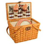 Frisco Picnic Basket For Two - Diamond Orange image 1