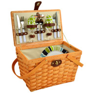 Frisco Picnic Basket For Two - Trellis Green image 1