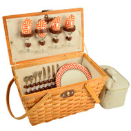 Settler Picnic Basket for Four - Diamond Orange image 1
