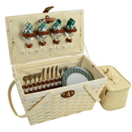Settler Picnic Basket for Four - Green Plaid image 1