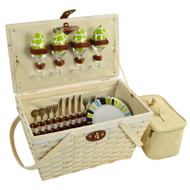 Settler Picnic Basket for Four - Trellis Green image 1