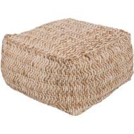 Surya Oak Cove Cube Pouf - OCPF4000 - Ivory, Khaki