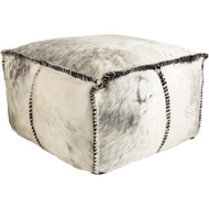 Surya Ranger Rectangle Pouf - RRPF001 - Black, Medium Gray, White