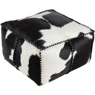 Surya Ranger Pouf 22 x 22 x 13 - White, Black