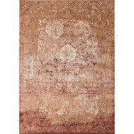 "Loloi Anastasia Rug  AF-18 Copper / Ivory - 5'-3"" X 5'-3"" Round"