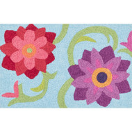 "Loloi Angelou Rug  HAN07 Lt. Blue / Berry - 1'-9"" x 2'-9"""