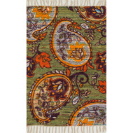 "Loloi Aria Rug  HAR10 Green / Orange - 2'-3"" x 3'-9"""