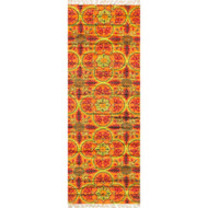 "Loloi Aria Rug  HAR13 Orange / Multi - 1'-9"" X 5'"