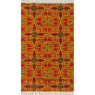 "Loloi Aria Rug  HAR13 Orange / Multi - 3'-0"" x 3'-0"" Round"